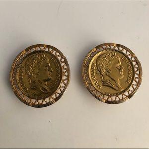 Coin clip on earrings
